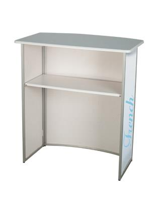 Aluminium Folding Exhibition Counter - Curved £159.99