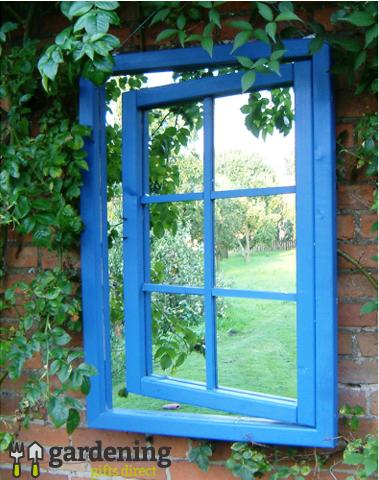 Open Window Illusion Garden Mirror  - Georgian