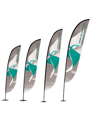 Crest Rounded Outdoor Flags. S, M, L and XL