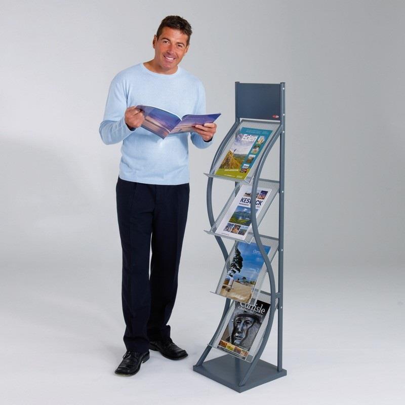 Wave Freestanding Brochure & Magazine Stand