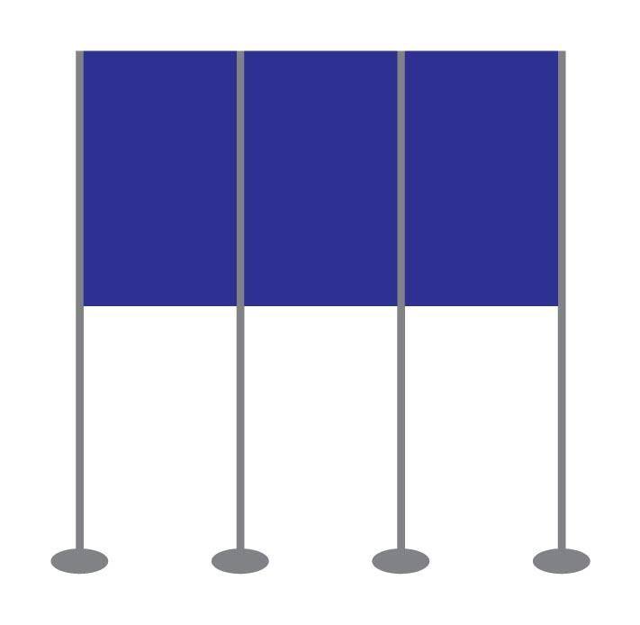 Panel and Pole Display Stand Kit 8