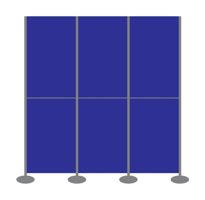 Panel and Pole Display Stand Kit 10