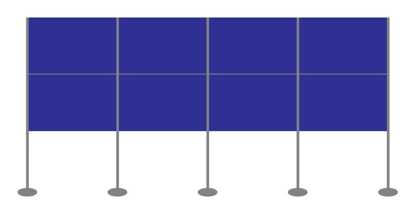 Panel and Pole Display Stand Kit 13