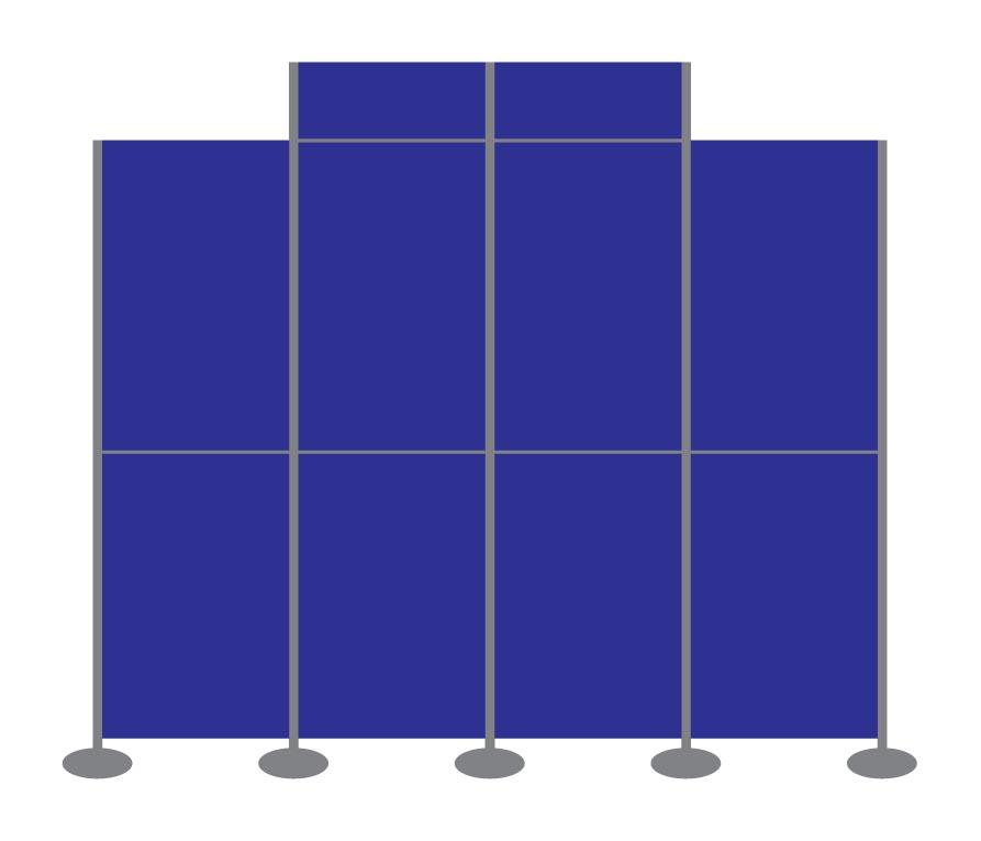 Panel and Pole Display Stand Kit 16