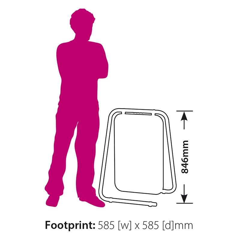 Plex Folding Swing Pavement Sign