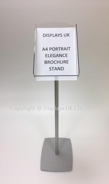 Elegance A4 Pillar Brochure Stand