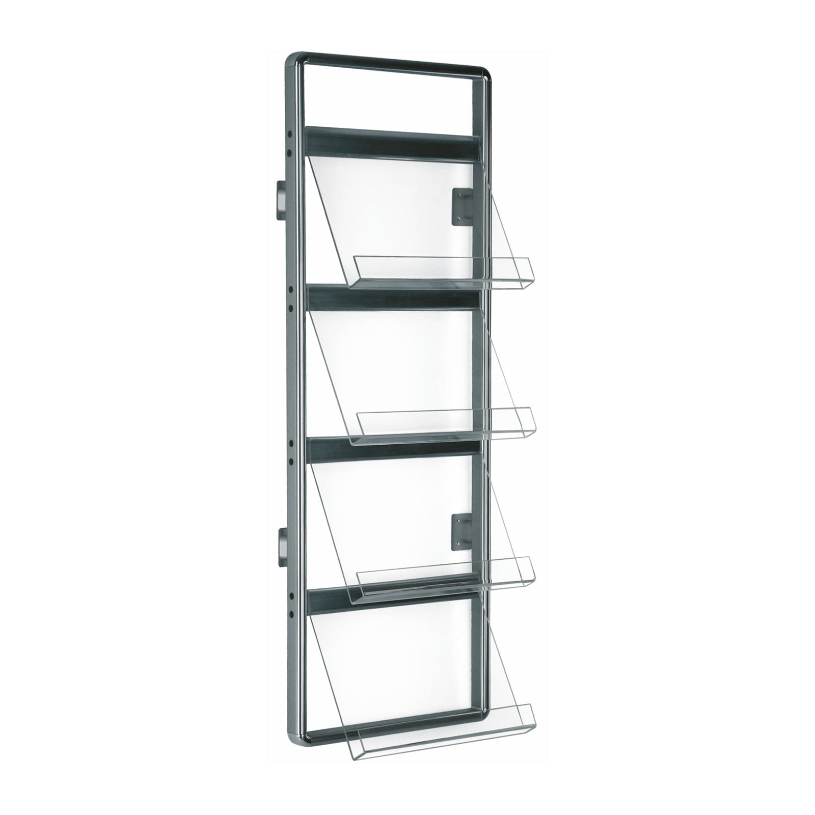 Agency Acrylic Wall Mounted Brochure Rack
