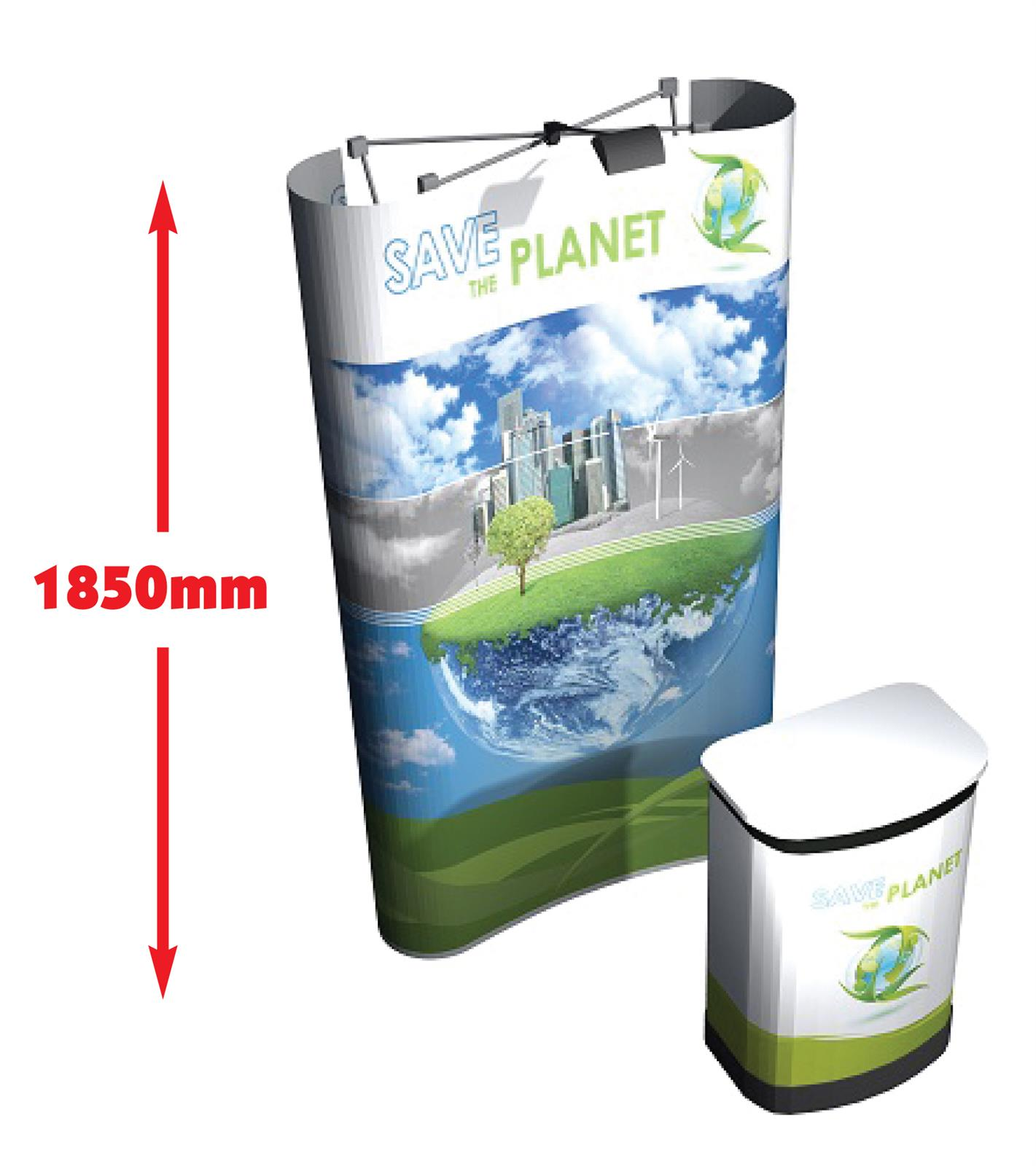 3x1 Mid Medium Height Pop Up Display Stand