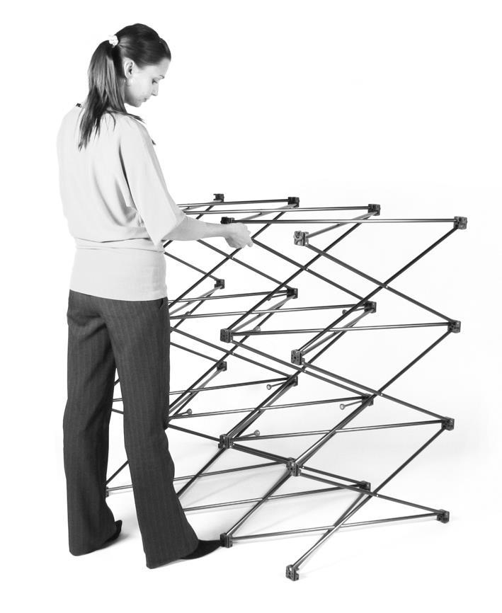 3x1 Mid Medium Height Pop Up Display Stand
