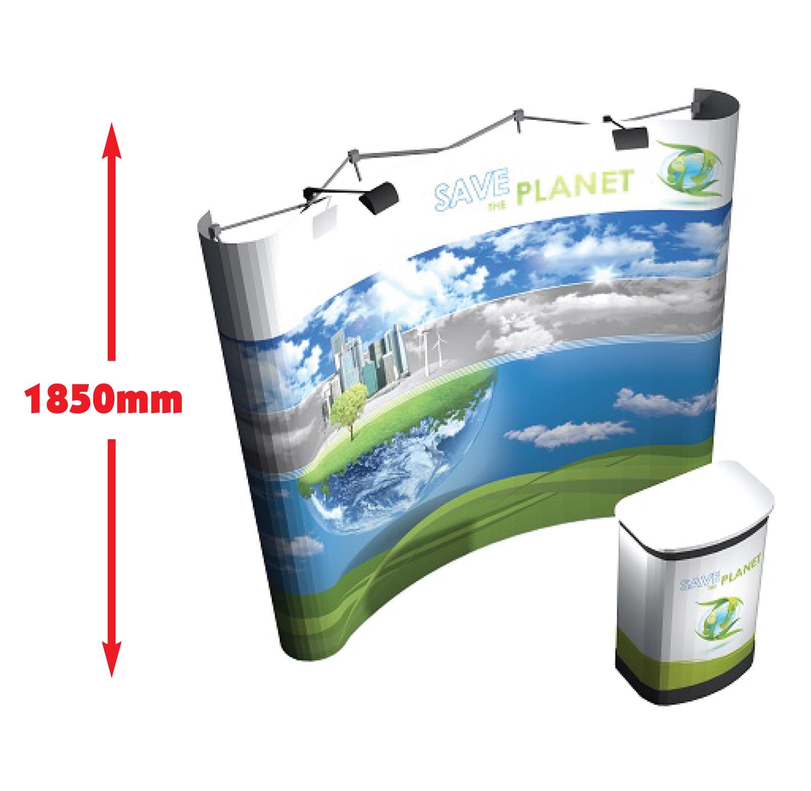 3x3 Mid Medium Height Pop Up Display Stand