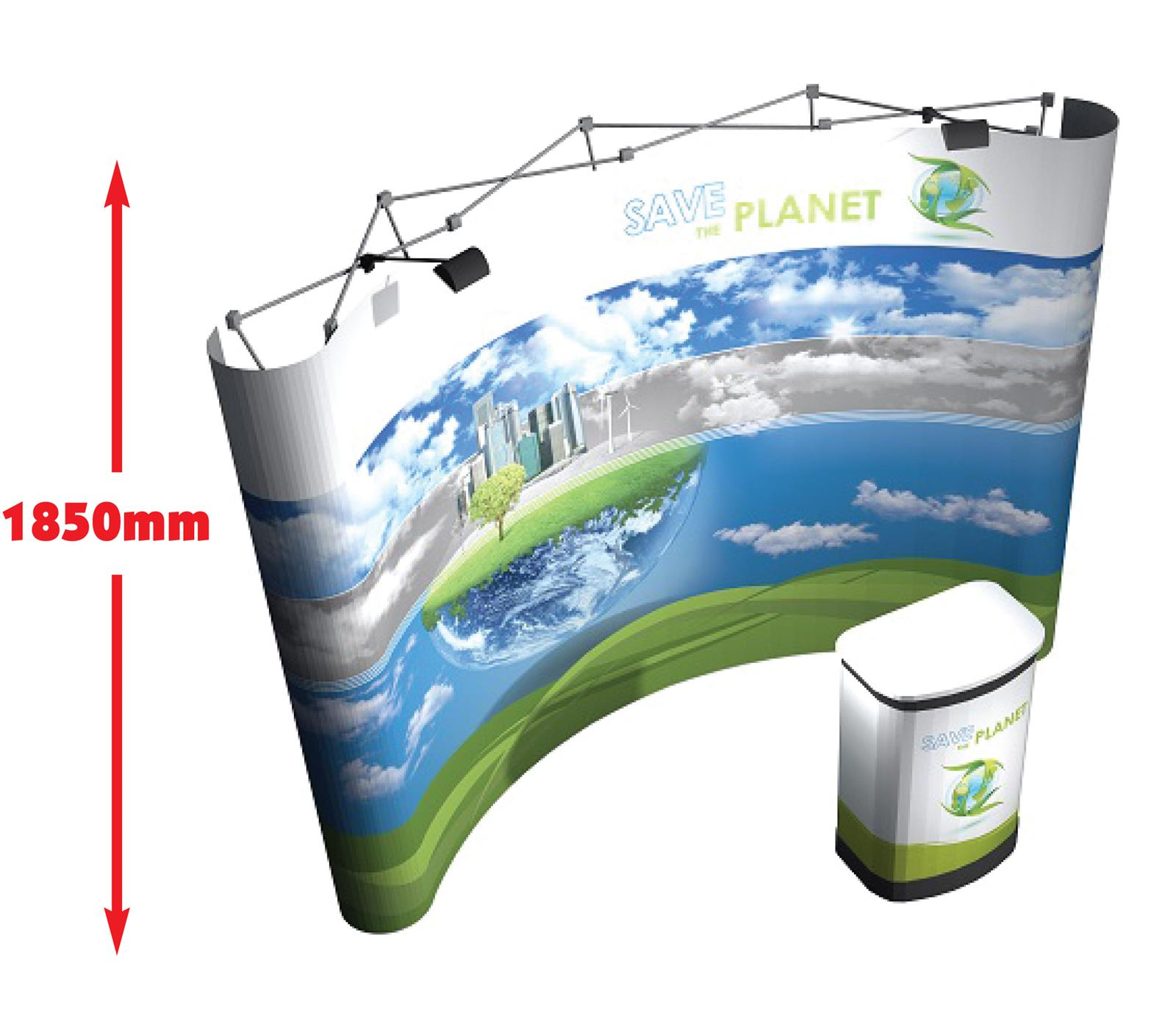 3x4 Mid Medium Height Pop Up Display Stand