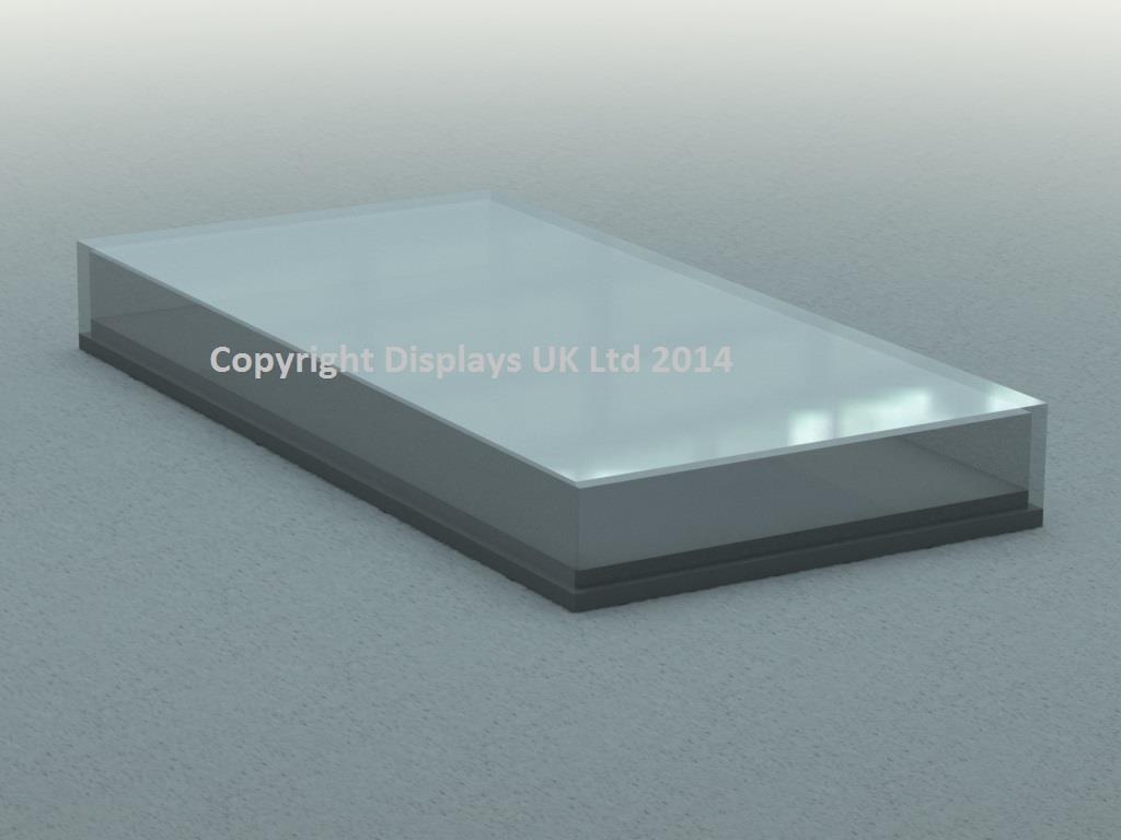 Flat / Shallow Acrylic Display Case & Base