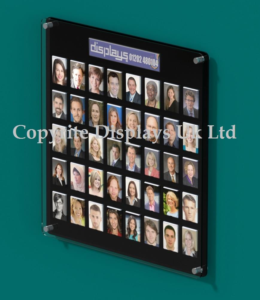 Secure Staff Photo Boards For Schools & Business