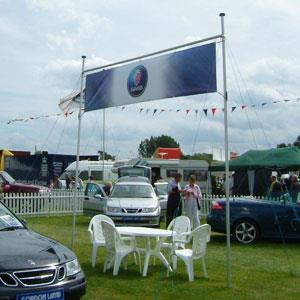 Outdoor Overhead Banner Display Stand