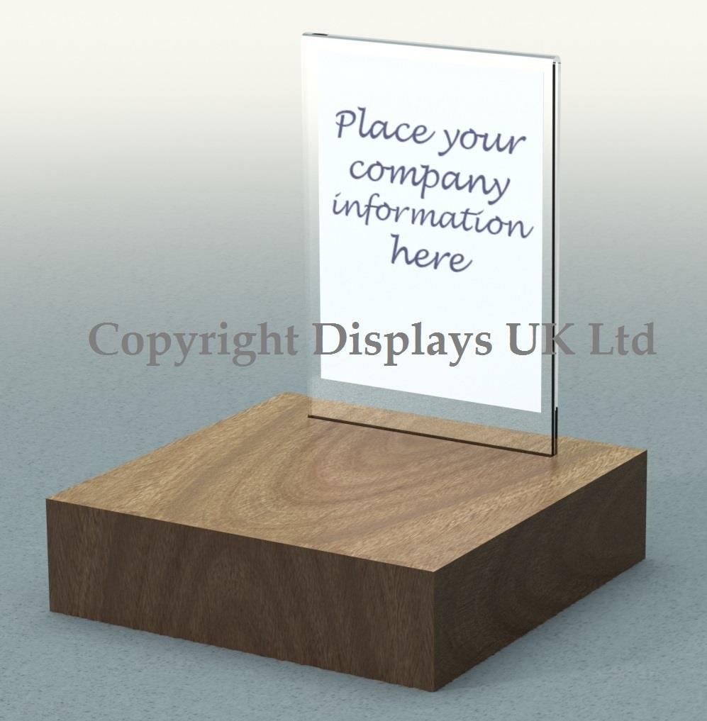 Hardwood Acrylic Retail Display