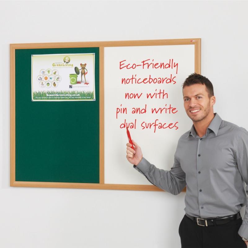 Eco Friendly Dual Felt Drywipe Noticeboards