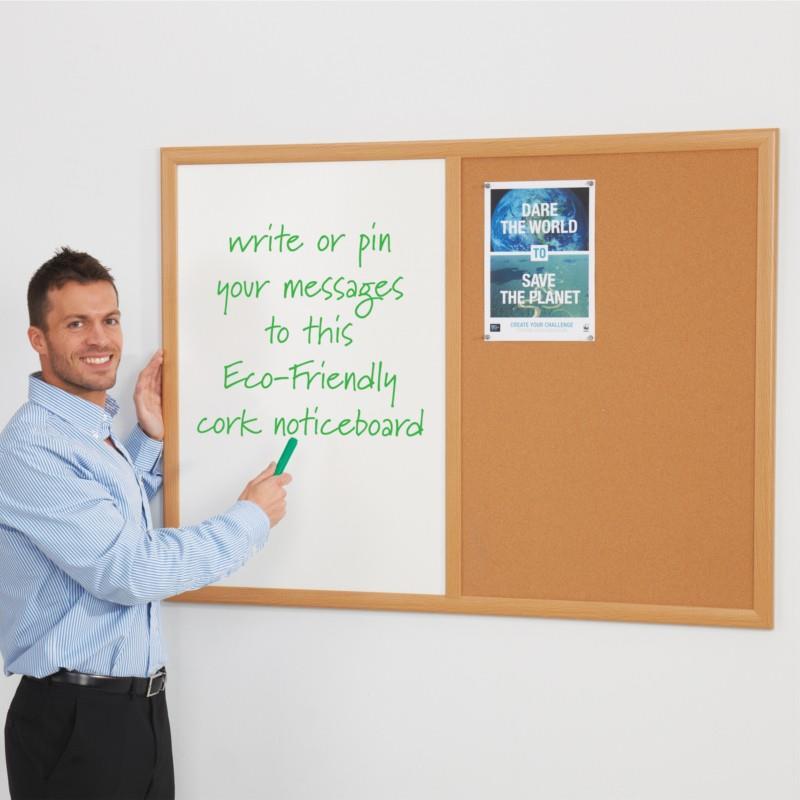 Eco-Friendly Dual Cork Drywipe Noticeboards