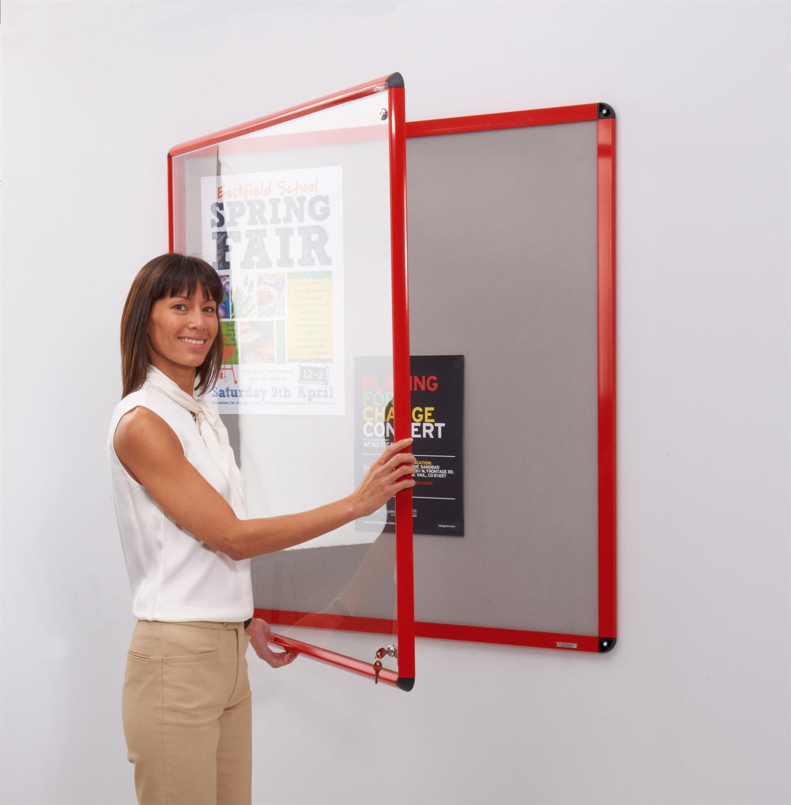Shield Design Lockable Noticeboards By Metroplan