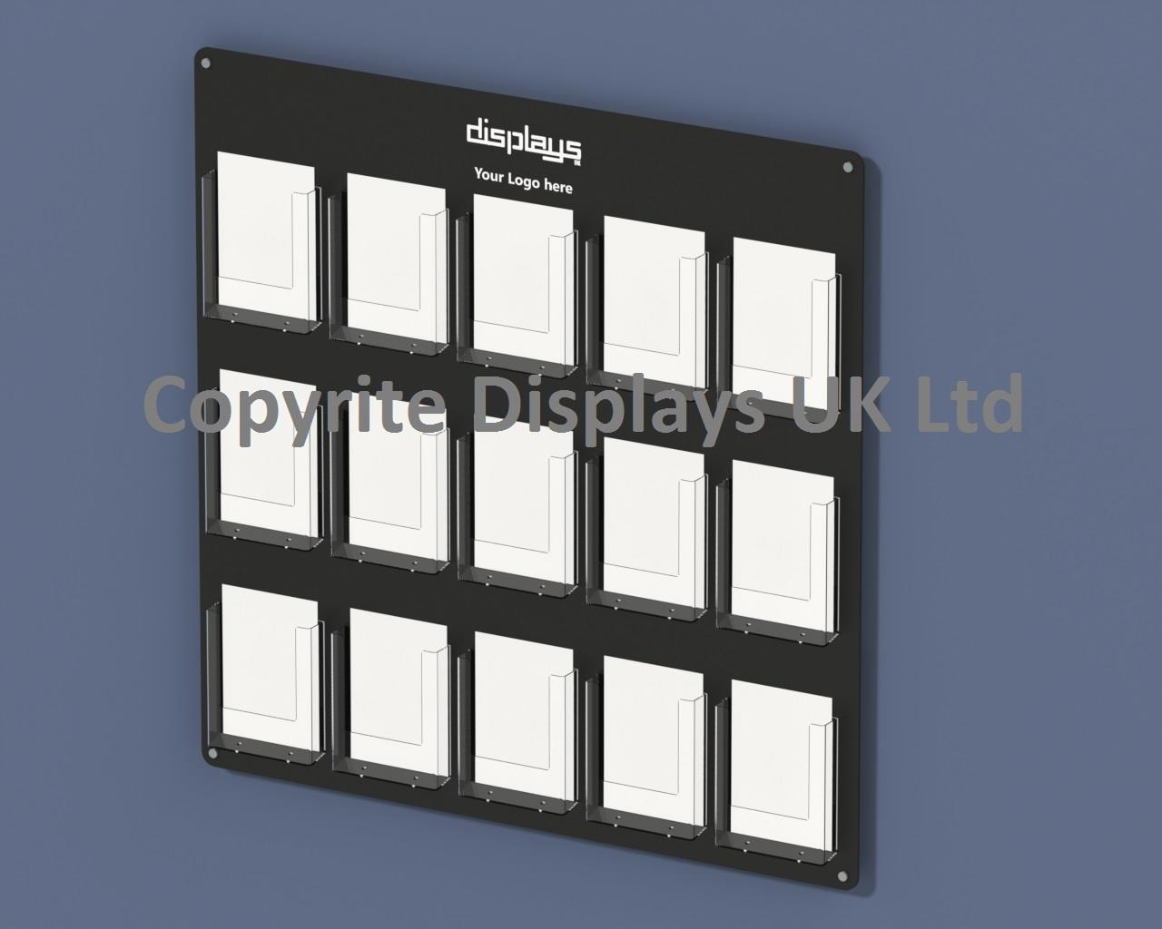 Vision A5 Multi Pocket Perspex Leaflet Holder Wall Mounted