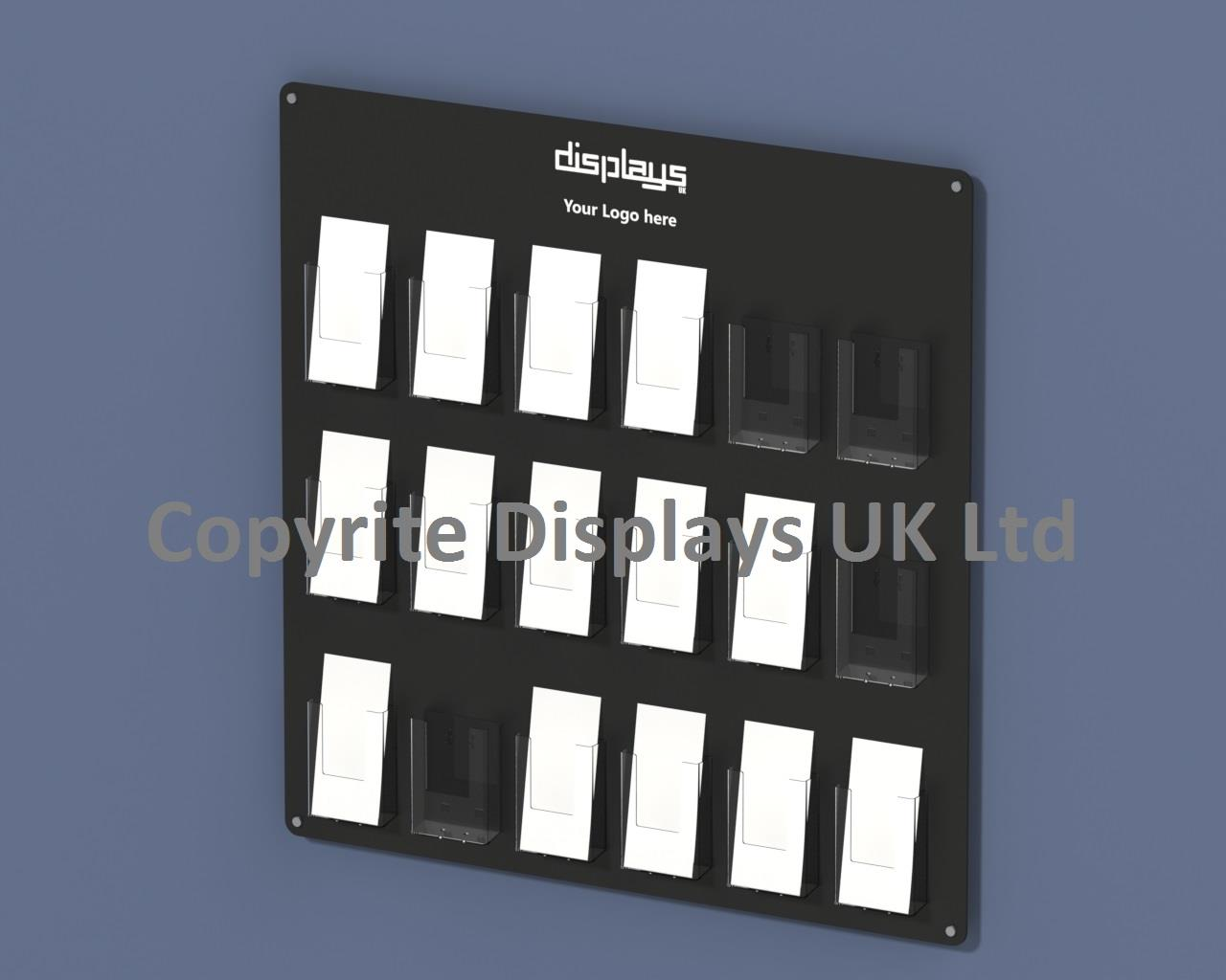 Vision DL Multi Pocket Perspex Leaflet Holder Wall Mounted