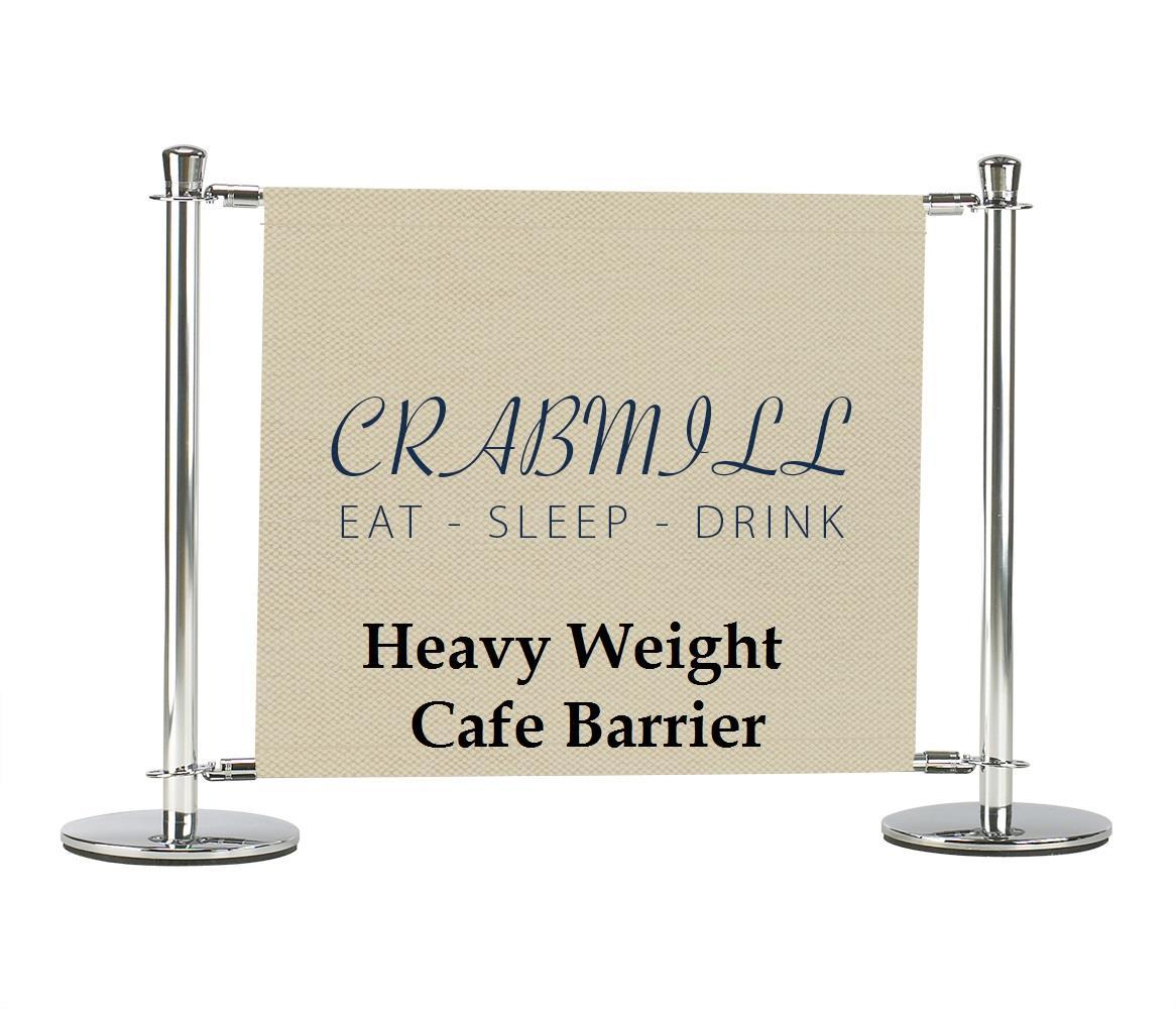 Heavy Duty Cafe Barrier Pavement Wind Breaks